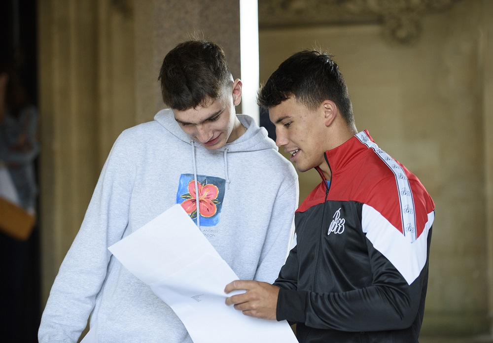 Clifton College GCSE results 2019 boys receiving results